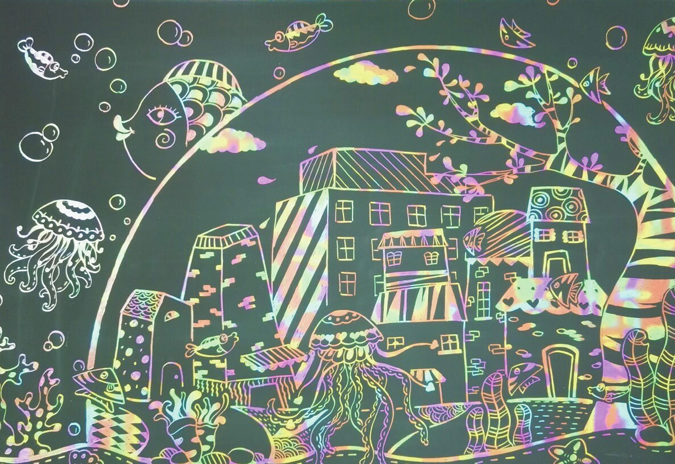 美好城市简笔画