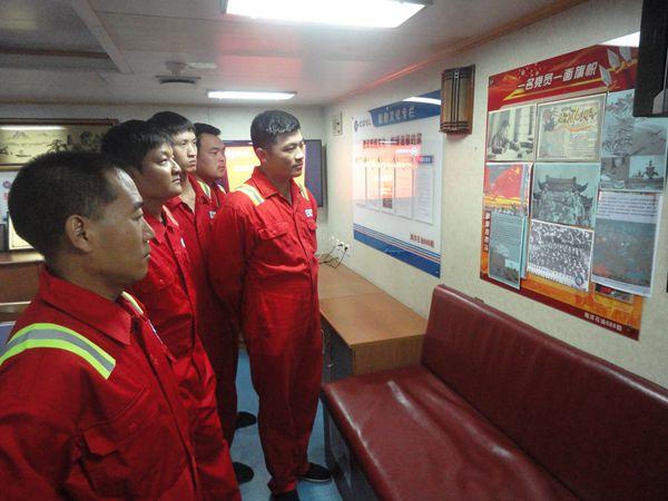 """""""海洋石油688""""举办抗战胜利图片展"""
