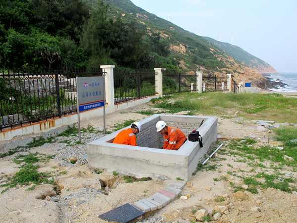 收集池抽水泵接线作业